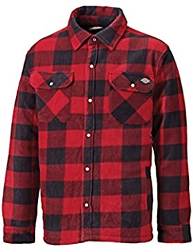 DICKIES Portland Padded Camicia Casual Rosso Large