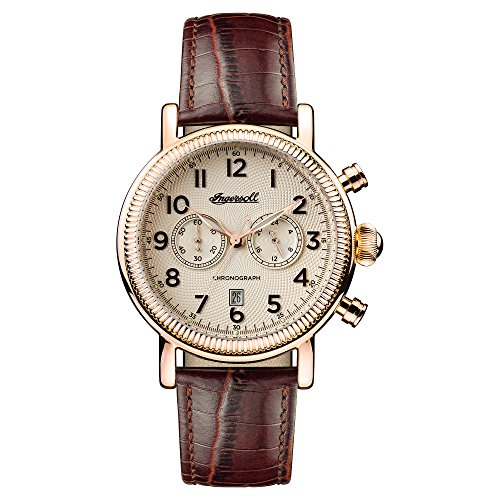 Ingersoll Herren Analog Quarz Uhr mit Leder Armband I01001