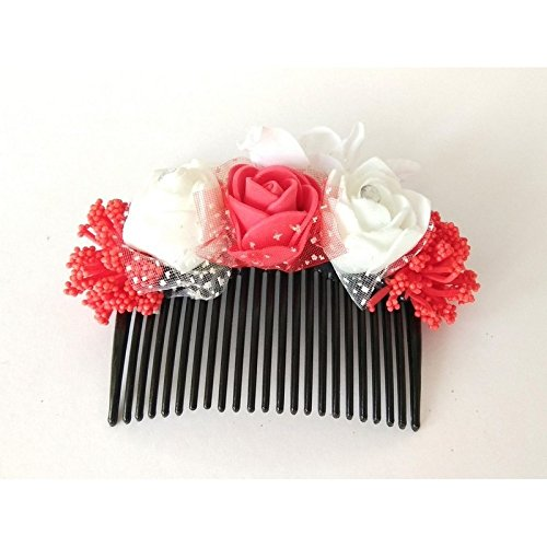 Unique Indian Crafts Hair Combpin/Multicolor foam sheet Hairpin comb /Girls Hair Accessories...