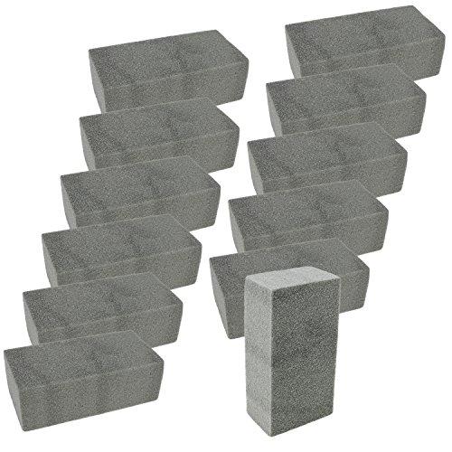 com-four® 12x Steckmasse, Steckschaum für Trockenblumen, 20 x 10 x 6,7 cm (12 Stück - Trockenblumen) (Grab Blumen Kranz)