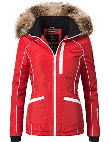 Navahoo Damen Outdoor Jacke Winterjacke Snow White (vegan hergestellt) Rot Gr. XS