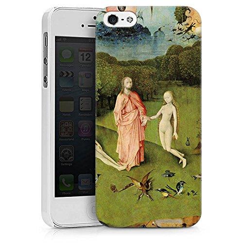 Apple iPhone X Silikon Hülle Case Schutzhülle Der Garten Eden Adam und Eva Kunst Hard Case weiß
