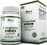 L-Arginin 4000 - 365 Vegetarische und Vegane Tabletten, Versorgung von L Arginin hochdosie HCL bis zu einem Jahr, 1000mg pro Tablette, Stärker als L-Arginin Kapseln der Konkurrenz, von Nu U Nutrition