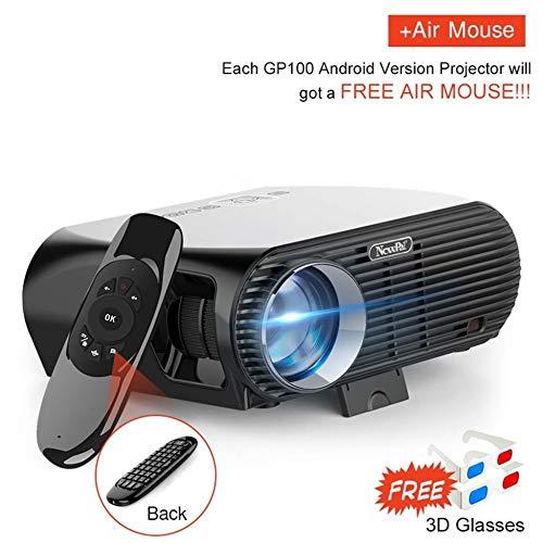 KAIDILA Projektor, 3500Lumens LED-Projektor GP100 bis Full HD Wifi Android 4K Projektor 3D Wireless Video proyectors