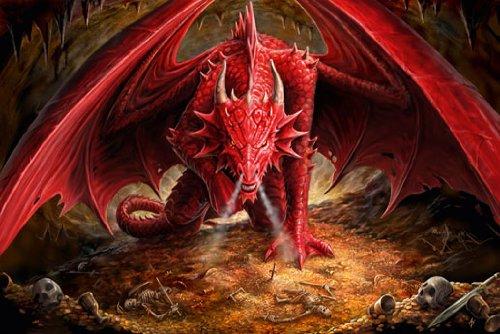 Dragon' s Lair by Anne Stokes Art Print poster