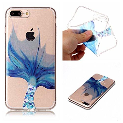 Apple iPhone 7 Plus 5.5 Hülle, Voguecase Schutzhülle / Case / Cover / Hülle / TPU Gel Skin (Schildkröte) + Gratis Universal Eingabestift Fischschwanz