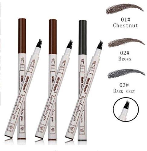 3 Farben Tattoo Augenbrauenstift, Wasserdicht Langanhaltend Augenbrauenstift, Brow Gel für Augen Make-up -