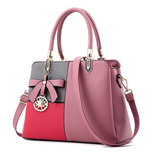 BYD - Pell Donna Borsa Handbag Croce di colore Borse a Mano 2rosa