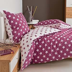 janine seersucker bettw sche sterne tango 2438 65 fuchsia mit kleinen fehlern gr e 135x200. Black Bedroom Furniture Sets. Home Design Ideas