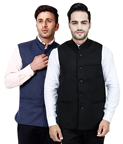 Rico Sordi Men's set of 2 Nehru Jacket (2, XX-Large)