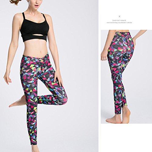 Zhhlaixing Design Womens Fashion printing Tight Comfy Sport yoga Pant Leggings LWQ-0123 Rose Red