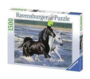 Ravensburger - 16276 - Puzzle - 1500 Pièces Chevaux sur la plage