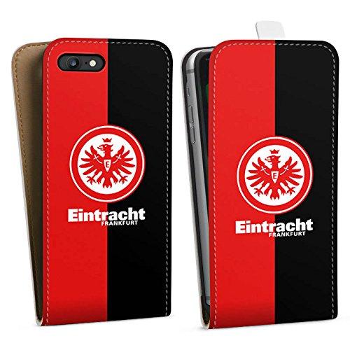 Apple iPhone 6 Tasche Hülle Flip Case Eintracht Frankfurt Fanartikel SGE Bundesliga Downflip Tasche weiß