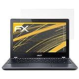 atFolix Panzerfolie kompatibel mit Acer Chromebook 11 C740 Schutzfolie, entspiegelnde und stoßdämpfende FX Folie (2X)