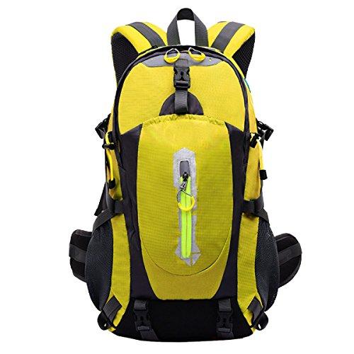 Yy.f40L Im Freien Bergsteigen Taschen Rucksäcke Wandern Camping Mehrzweck-Reisetasche. Größe: 33 * 17 * 46cm. Multicolor Black