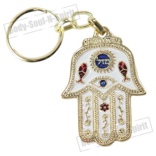 Llavero cábala amuleto de suerte de Israel Jamsa protección contra el mal de ojo
