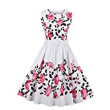 Womens 50s Rockabilly Plus Size Vintage Party Evening Cocktail Dress