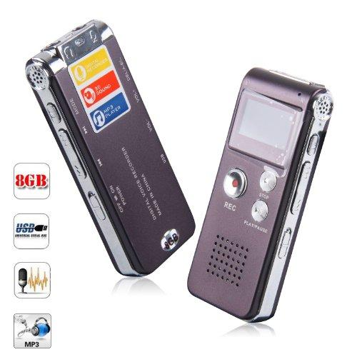 SHS Notebook Digital Diktiergerät Audio Voice Recorder 8GB MP3 (Shs-audio)