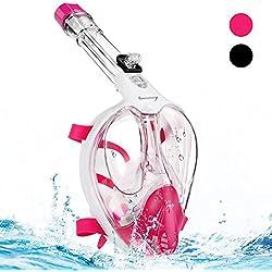 Bermunavy Lunettes de plongée au tuba, lunette pour plonger et pour la piscine L/XL pink L/XL