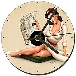 MasTazas Chica Pin Up Girl Sexy Eleanor Reloj CD Clock 12cm