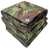 Extra große Camouflage-Plane wasserdichtes schweres Outdoor-dickes Baumwoll-Segeltuch mit Ösen-Kit Tarnungs-wasserdichte Plane-Bodenbelag für Camping-Angeln-Gartenarbeit und Haustiere ( größe : 3x4m )