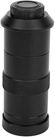 Digitale Mikroskopkamera Mit 100 Facher Vergrößerung C Mount Objektiv Zoom Mikroskop Okular Lupenobjektiv Für Mikroelektronik Präzisionsmaschinen Identifizierung Von Fingerabdrücken Und Schulunterrich Beleuchtung