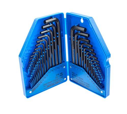 Preisvergleich Produktbild Innensechskant Schlüssel 30-tlg. Zoll Werkzeug Metrisch Sechskant für Inbus Schrauben