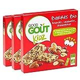 Good Goût - BIO - Kidz Barres Amandes Cacahuètes Canneberges dès 3 Ans 3 x 20 g - Lot de 3