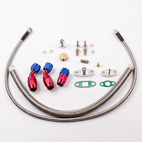 maXpeedingrods T3/T4 T70 T66 T04E Turbocharger Turbo Oil Feed Return Drain Line fitting kits