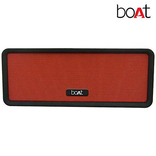boAt Stone BriXX Dynamic 8W Speaker with Bluetooth/Aux/SD Mode and Dual Tone Finish (Fiery Black)