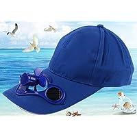 Annedenn Solar Gorra de béisbol, Sombrero de Aire Libre para Camping (Azul)