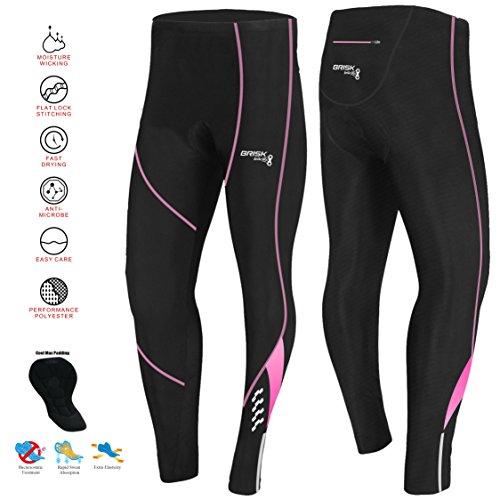 Brisk Bike Thermo-Radhosen Fahrradhosen Radsport-Leggings Fahrradhosen Radlerhosen gepolsterte Radhosen professionelle Radhosen Fahrradkleidung Mountainbike (Black/Pink Model 2, S)