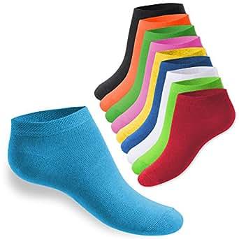 10 Paar SNEAK IT! KIDS Kinder Sneaker Socken für Mädchen & Jungen Berrytöne-23-26