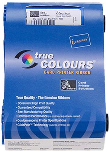 Zebra Monochrome Ribbon Black cinta impresora 1000