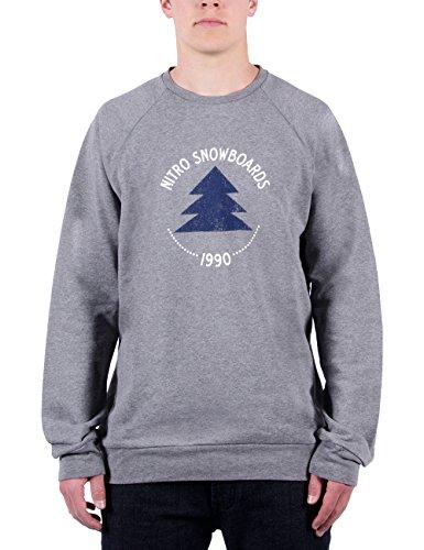Nitro Herren langärmel-Pullover Woody Sweat 15 Light Heat Grey L