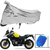 Riderscart All Season (Weather) Waterproof Bike Cover for Suzuki v Strom Indoor Outdoor Protection Combo with Storage Bag and