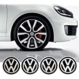 4 x 55mm Diamètre VW Volkswagen Centre de roue Cap autocollant emblème auto-adhésif Pour surfaces planes cher Prix