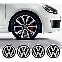 4 x 55mm Diametro VW Volkswagen centro di rotella di Cap Emblem Sticker autoadesivo Per Piso Superfici prezzo poco costoso - Centro Di Rotella Cap