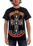 Guns N Roses - - Logo Afd hommes Jumbo T-shirt In Black, X-Large, Black