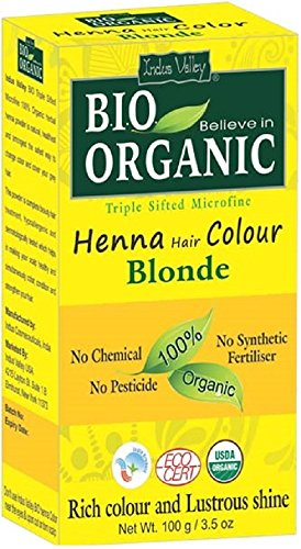 Indus Valley Henna Tinte cabello Color Rubio 100%