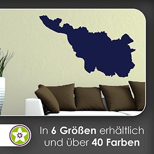 KIWISTAR Bundesland Bremen - Bremerhaven Wandtattoo in 6 Größen - Wandaufkleber Wall Sticker