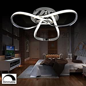 Aurolite halo contemporary led chrome semi flush ceiling for Living room 2700k or 3000k