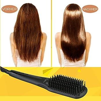 Beautywill Haarglätter-bürste Mit Mch Technologie, Doppel-anionen, Anti-verbrüh-kammzähne Für Eine Schnelle Haarglättung 4
