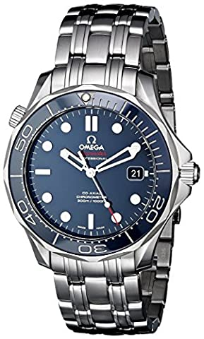 OMEGA Men's Steel Bracelet & Case Automatic Blue Dial Analog Watch 212.30.41.20.03.001