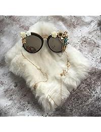 BOZEVON Punk Polarizzate UV 400 Protezione Occhiali da sole Unisex Vintage in Metallo, Oro-Giallo C3
