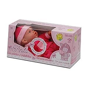 Tachan- Muñeca Anita con Sonidos y palabritas, en Caja (CPA Toy Group Trading S.L. W21303a)