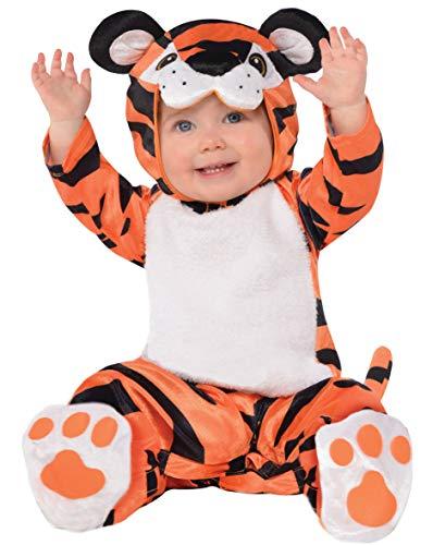 Amscan 9900893 Kinderkostüm Tiny Tiger, Mehrfarbig, 6-12 Monate (Monate 7 Jungen Alten Halloween-kostüme)