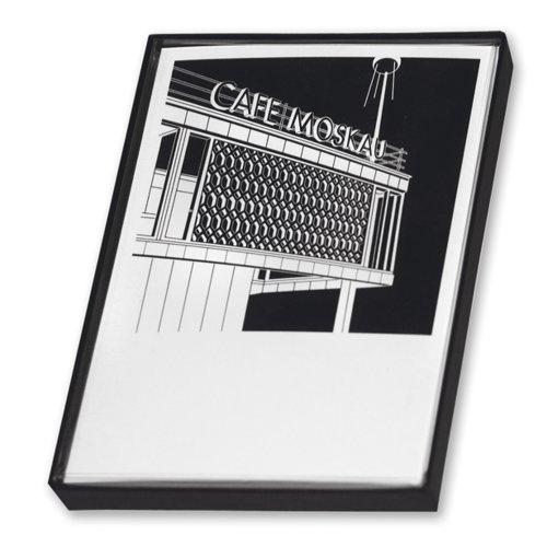 Postkarten-Box STADTGRAFIKEN. Bauikonen & internationales Flair. Ideal zum Verschenken und Verschicken. Set mit 12 Postkarten in schöner Geschenkbox.