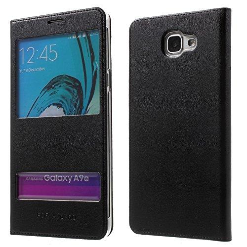 SmartLike Window Sensor Leather Premium Flip Cover for Samsung Galaxy J7 Prime BLACK