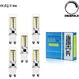 5x Regulable G9 6W LED 3014 SMD Lámpara Bombilla 3000K Luz Blanco Cálido AC 200-240v 400-450 lumen